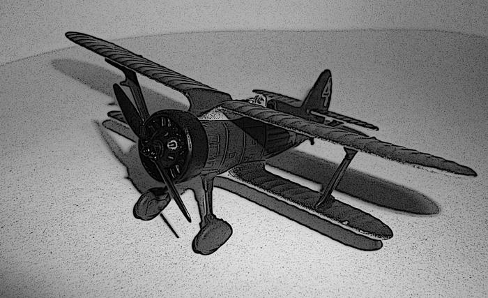 Модель истребителя И-15