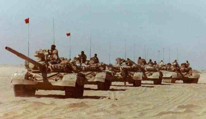 Колонна М-84 из сост. 35 бригады Кувейта